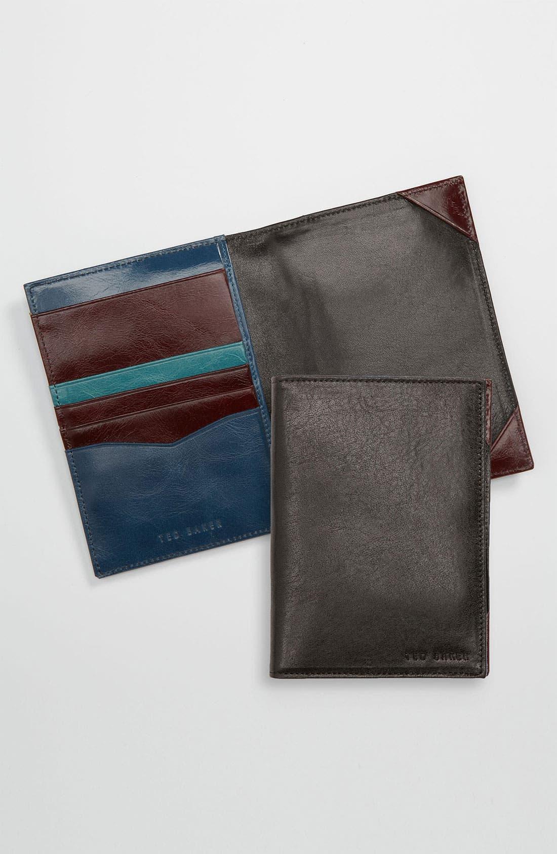 Main Image - Ted Baker London 'Passdoc' Passport Wallet