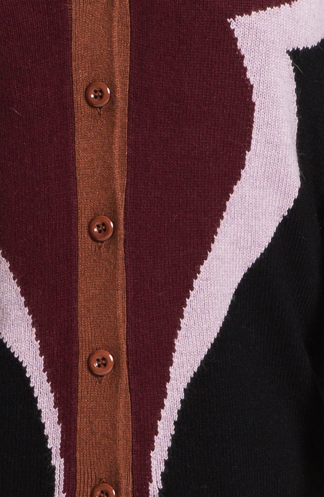 Alternate Image 3  - Evans 'Clover' Cardigan (Plus Size)