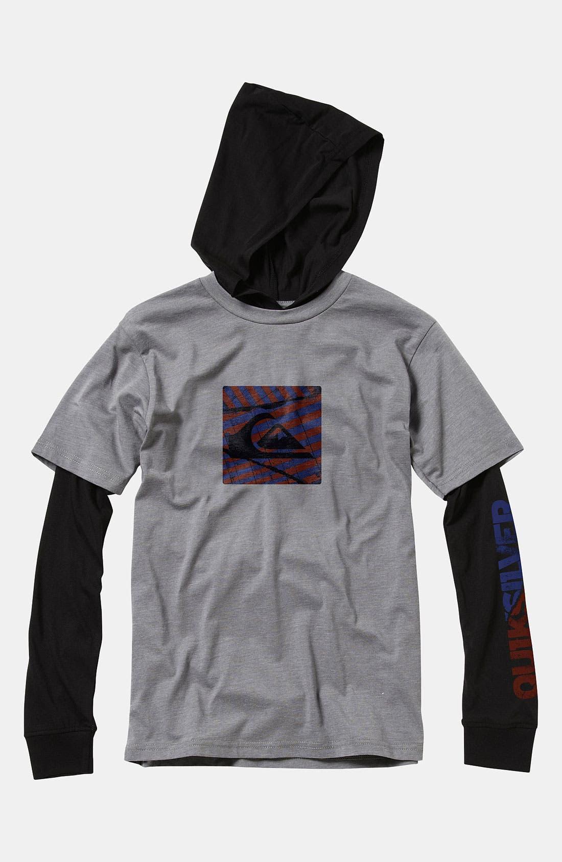 Main Image - Quiksilver 'Balin' Hooded Shirt (Big Boys)