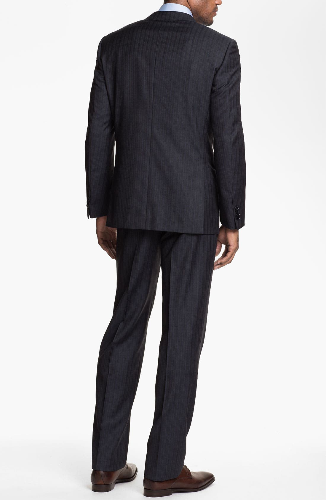 Alternate Image 3  - Pal Zileri Trim Fit Stripe Suit