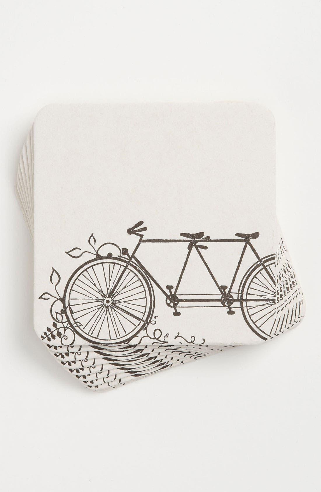 Alternate Image 1 Selected - 'Tandem Bike' Coasters (Set of 10)