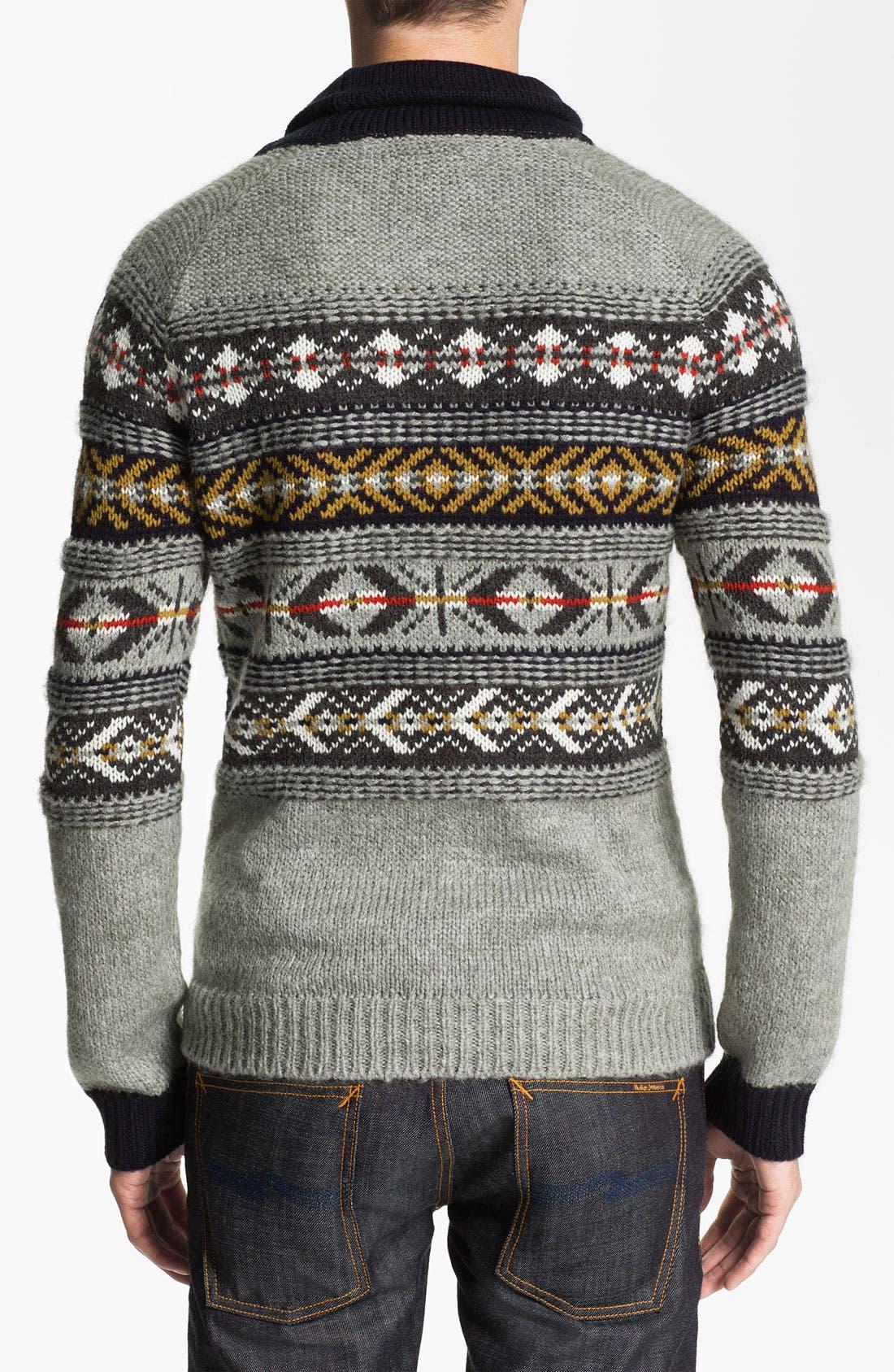 Alternate Image 2  - J.C. Rags Jacquard Shawl Collar Sweater