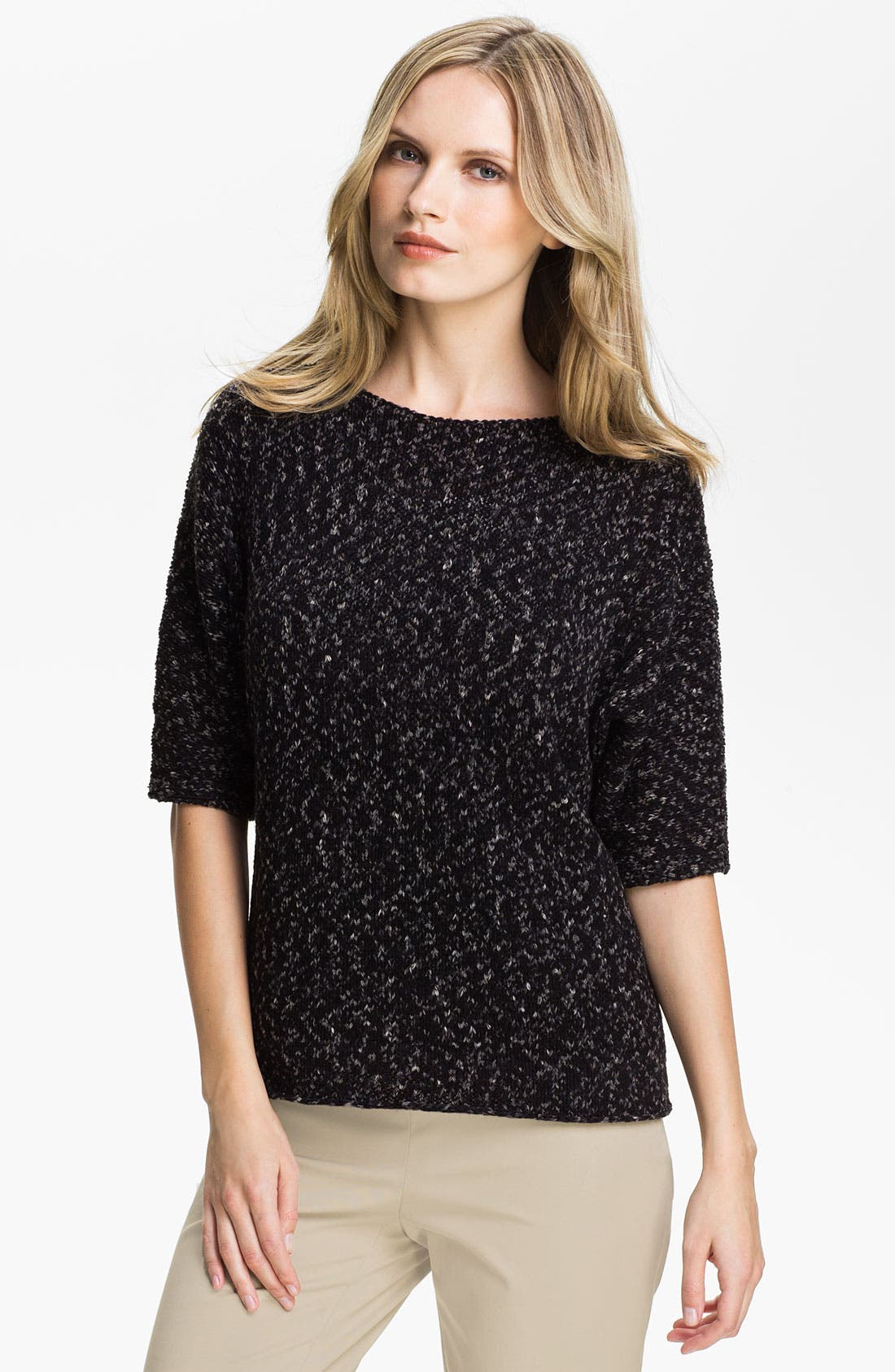 Main Image - Lafayette 148 New York Elbow Sleeve Sweater