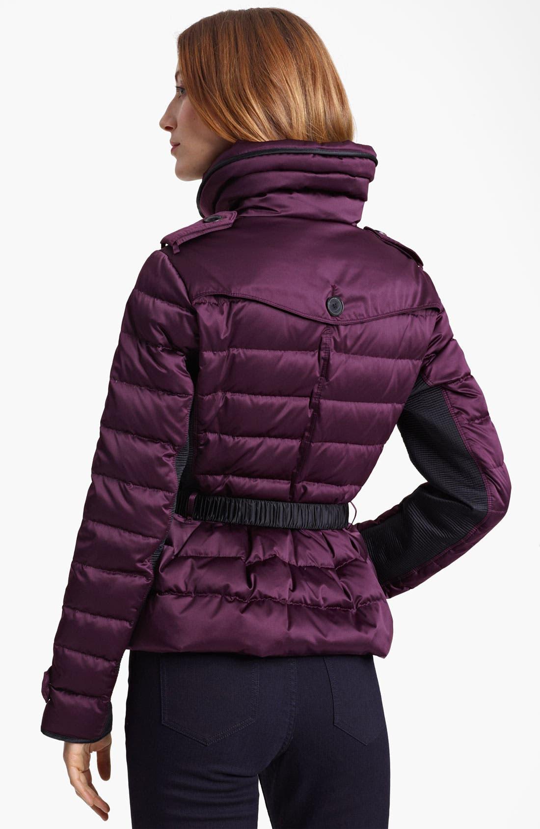 Alternate Image 2  - Burberry London Bow Belt Puffer Jacket