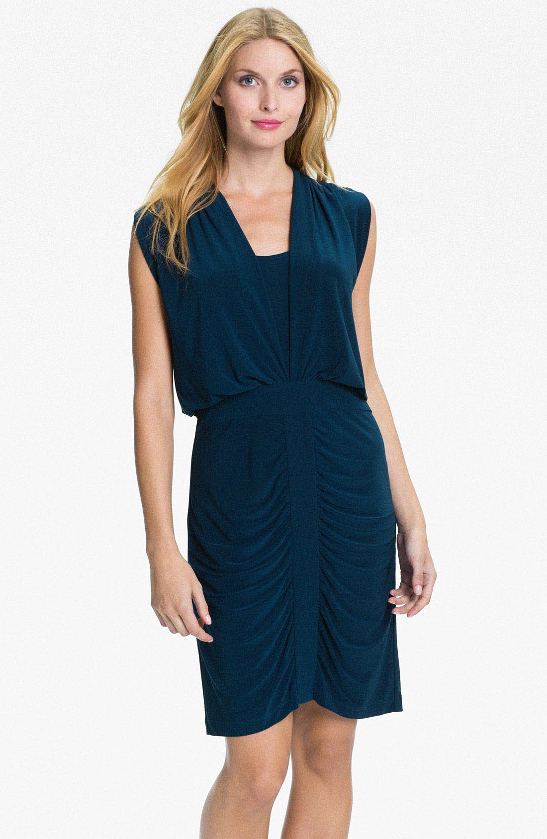 Alternate Image 1 Selected - Adrianna Papell Draped Jersey Dress