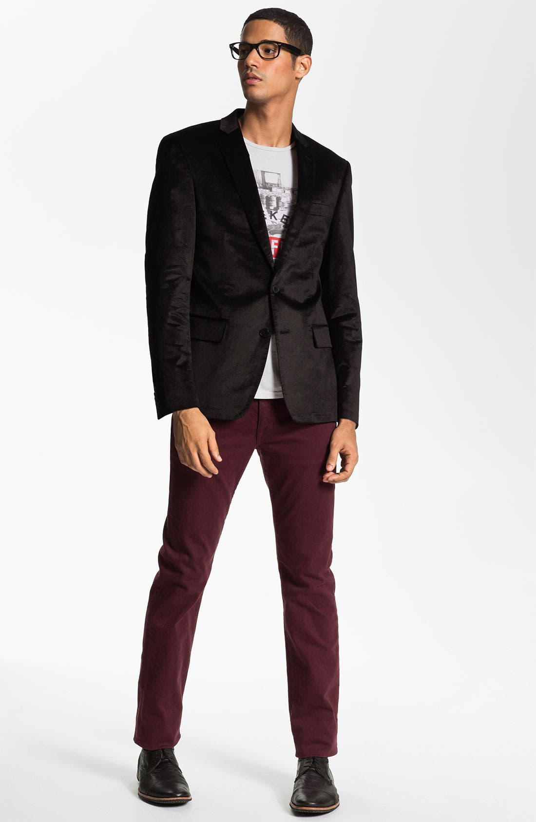 Alternate Image 3  - Joe's 'Brixton' Slim Straight Leg Jeans (Bordeaux)