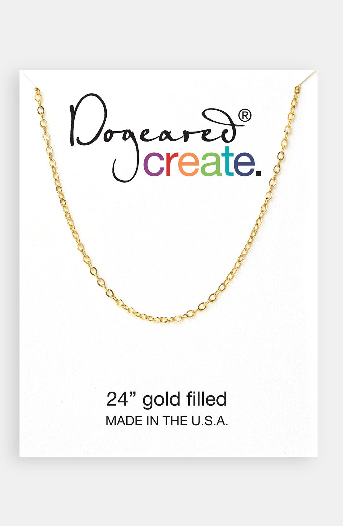 Alternate Image 1 Selected - Dogeared 'Create' Link Necklace