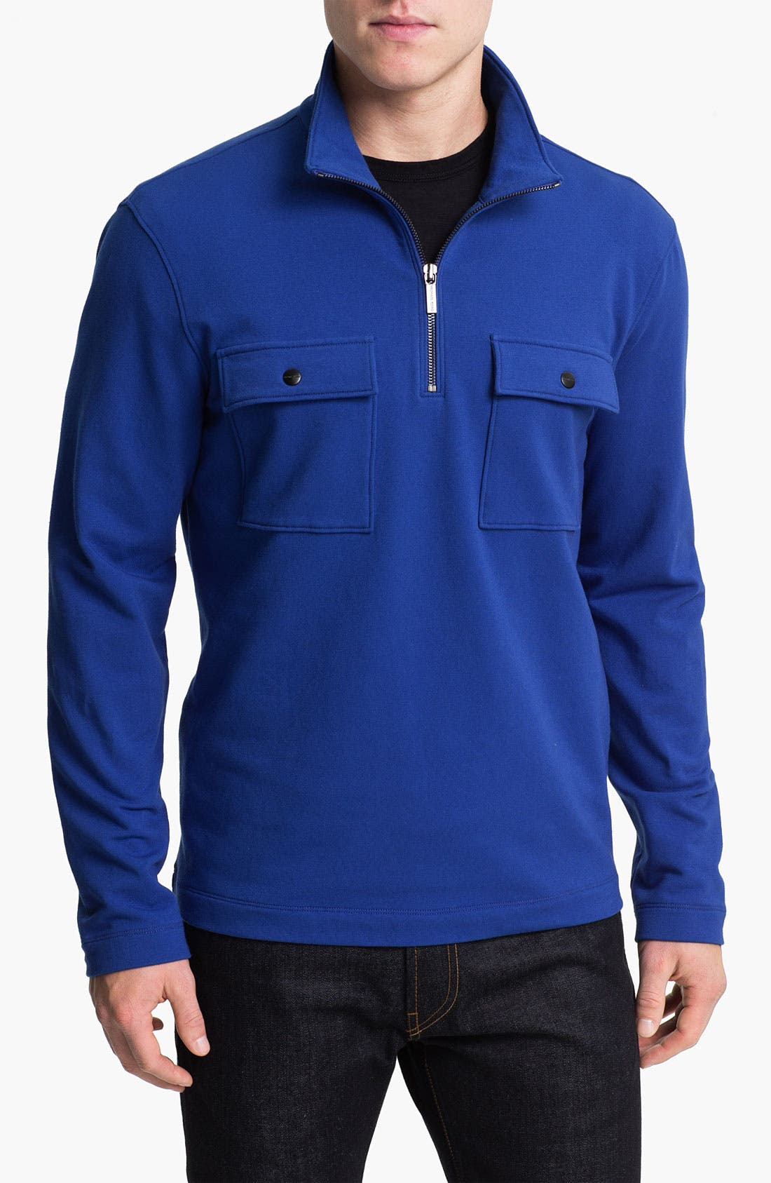 Alternate Image 1 Selected - Michael Kors Half Zip Fleece Pullover