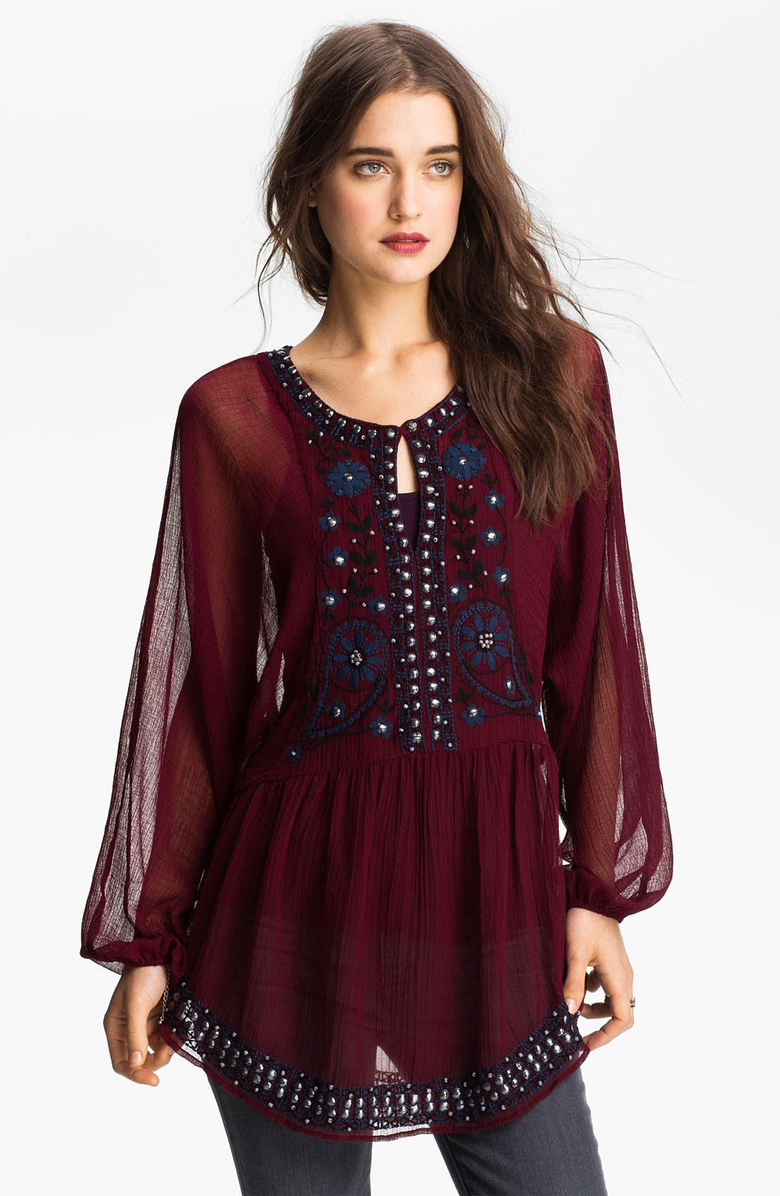 Free People Embellished Peasant Tunic Nordstrom