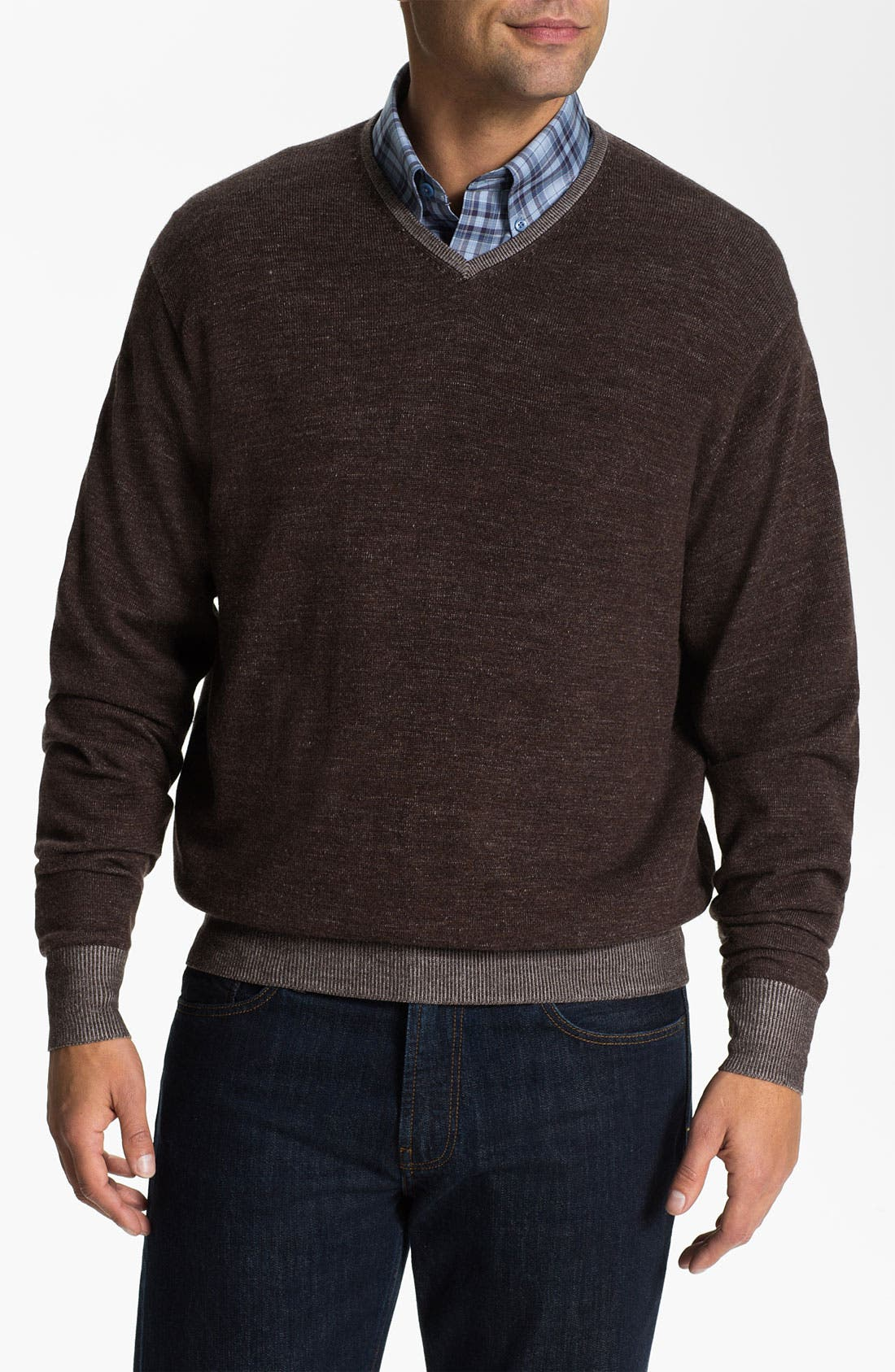 Alternate Image 1 Selected - Peter Millar V-Neck Merino Wool Sweater