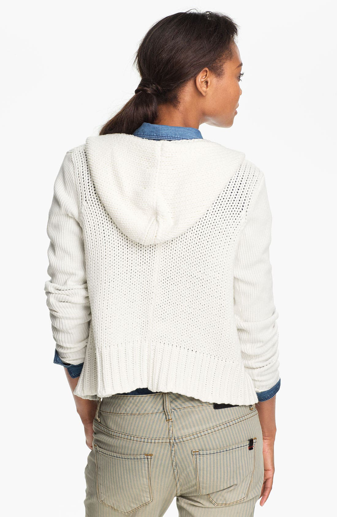 Hooded Cardigan,                             Alternate thumbnail 2, color,                             New Ivory