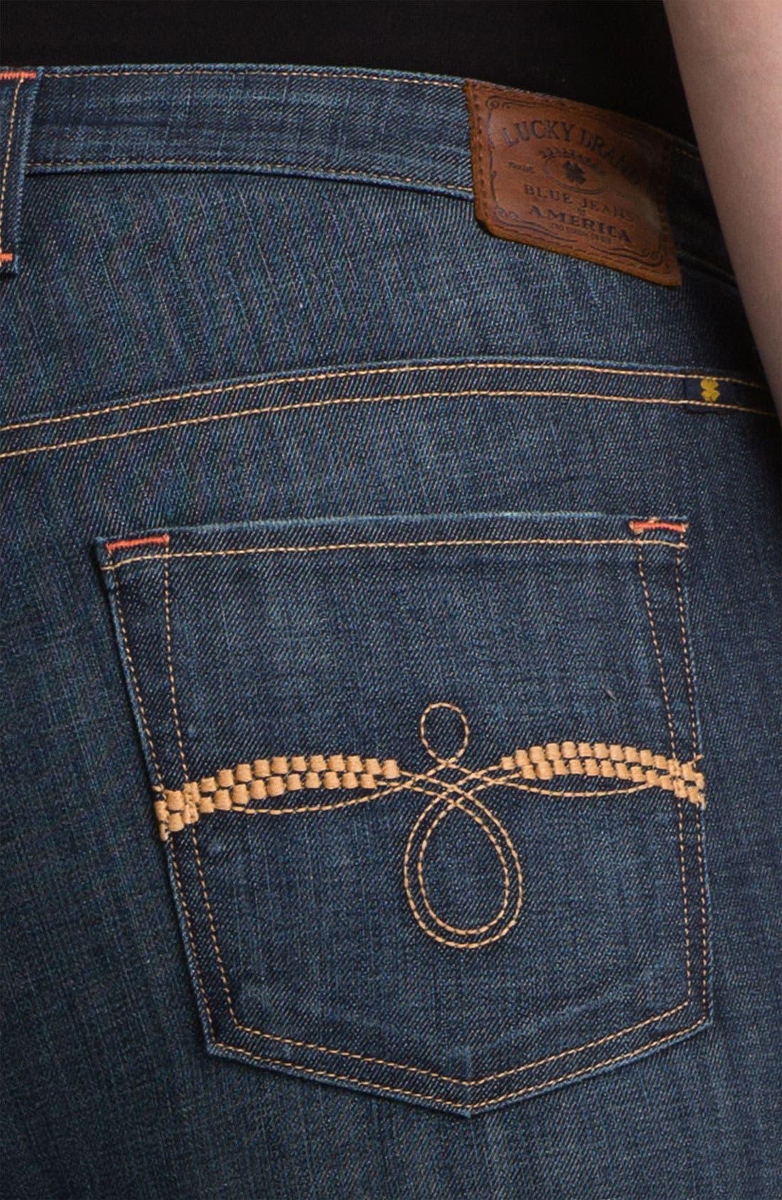 Alternate Image 3  - Lucky Brand 'Ginger' Skinny Denim Jeans (Plus)