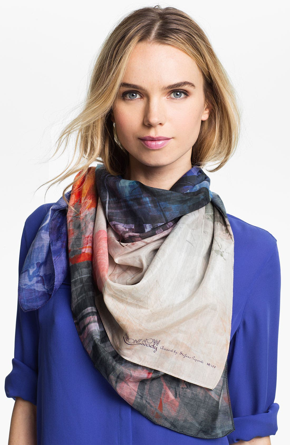 Alternate Image 1 Selected - Front Row Society 'Elusive Dream' Cotton & Silk Scarf