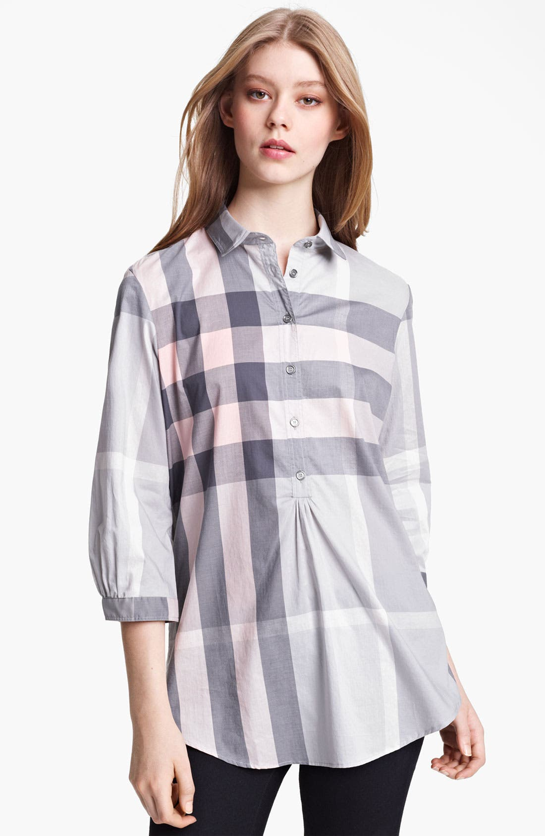 Alternate Image 1 Selected - Burberry Brit Woven Check Tunic (Online Exclusive)