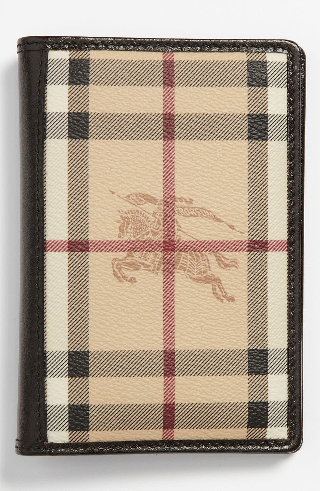 Alternate Image 1 Selected - Burberry 'Haymarket Check' Passport Wallet