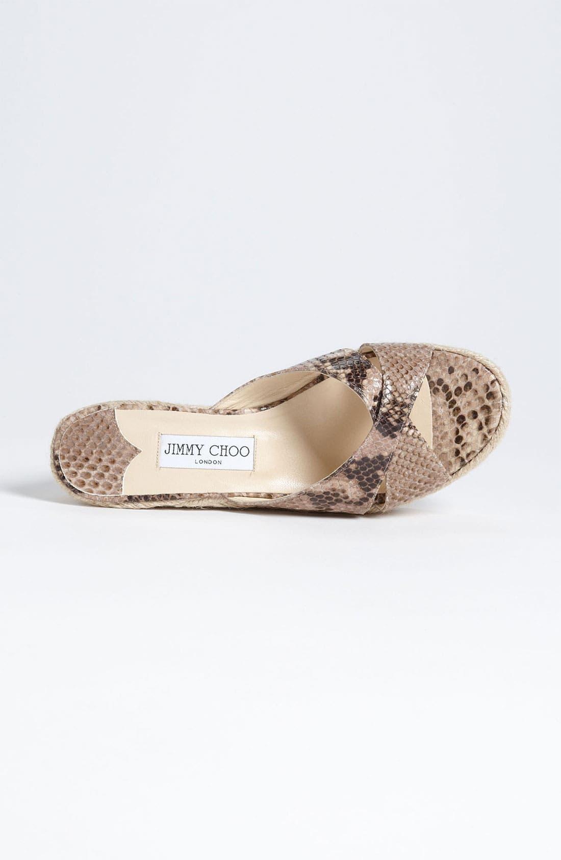 Alternate Image 4  - Jimmy Choo 'Paisley' Wedge Sandal