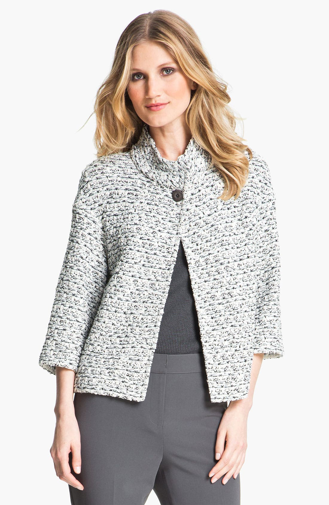 Alternate Image 2  - St. John Collection Organza Tape Tweed Knit Jacket