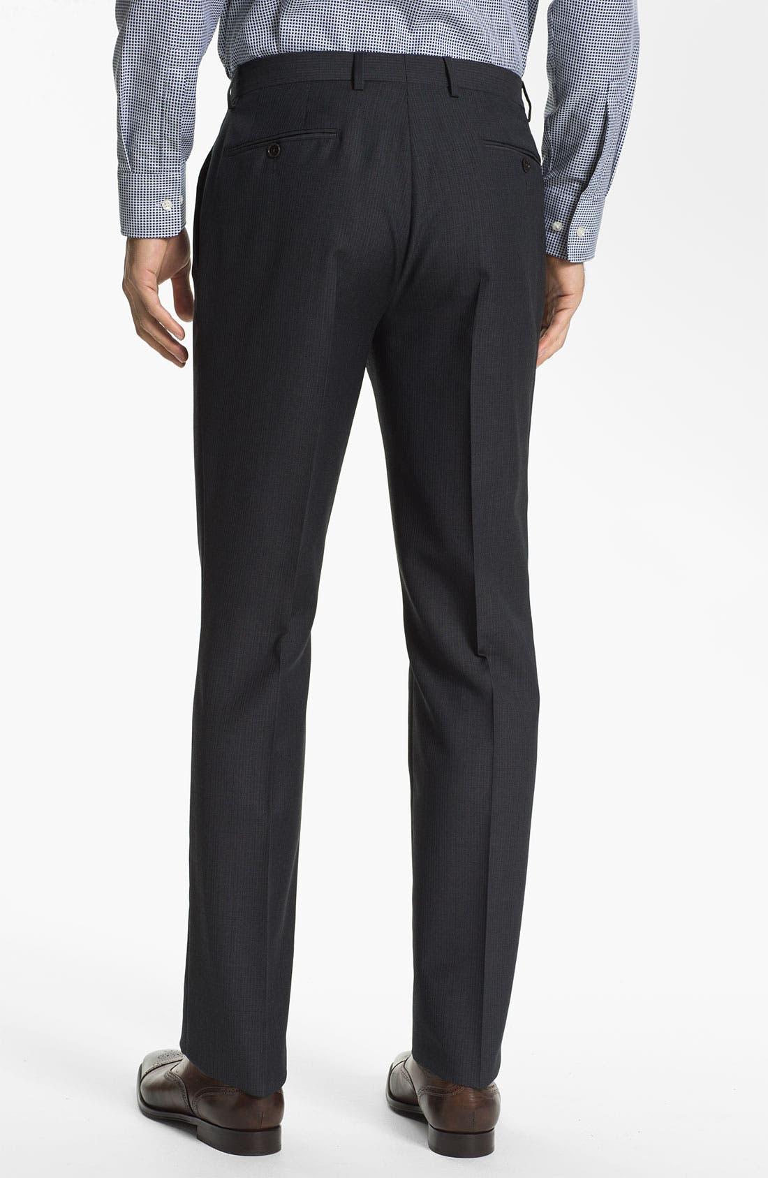 Alternate Image 5  - John Varvatos Star USA 'Bowery' Trim Fit Stripe Suit