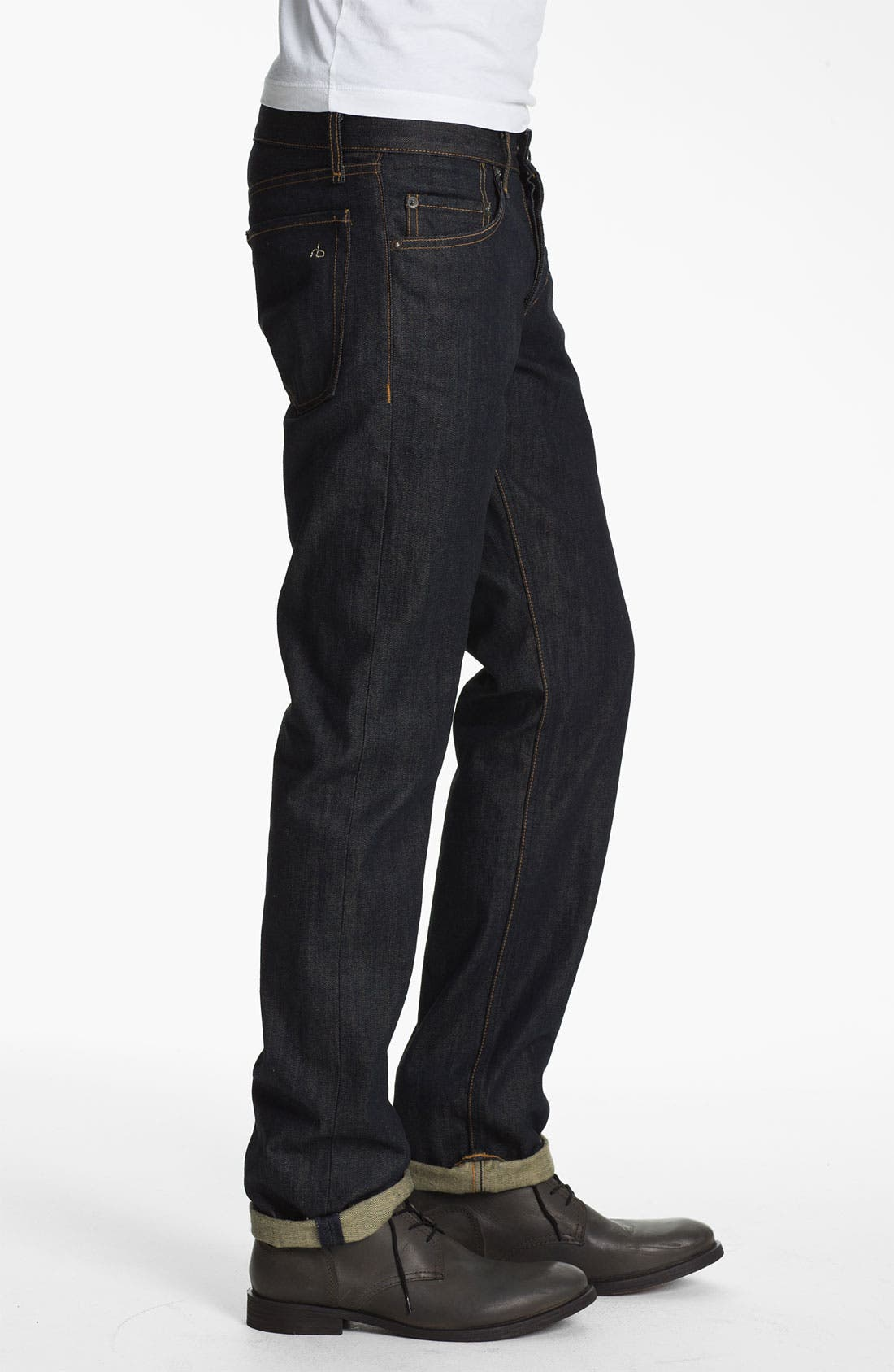 Alternate Image 3  - rag & bone 'RB19X' Slim Straight Leg Jeans (Olive Resin)