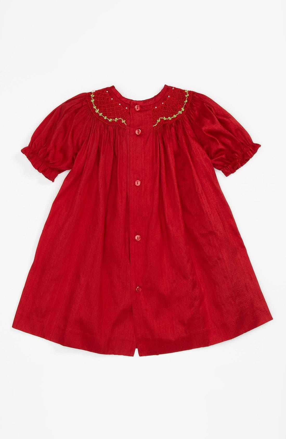 Alternate Image 2  - Luli & Me Silk Dress (Infant)