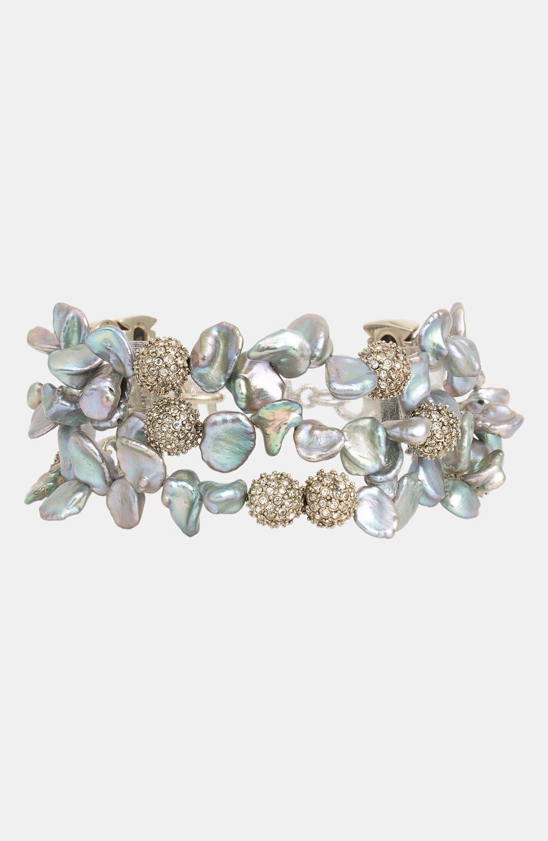Alternate Image 1 Selected - St. John Collection Grey Keshi Pearl Bracelet