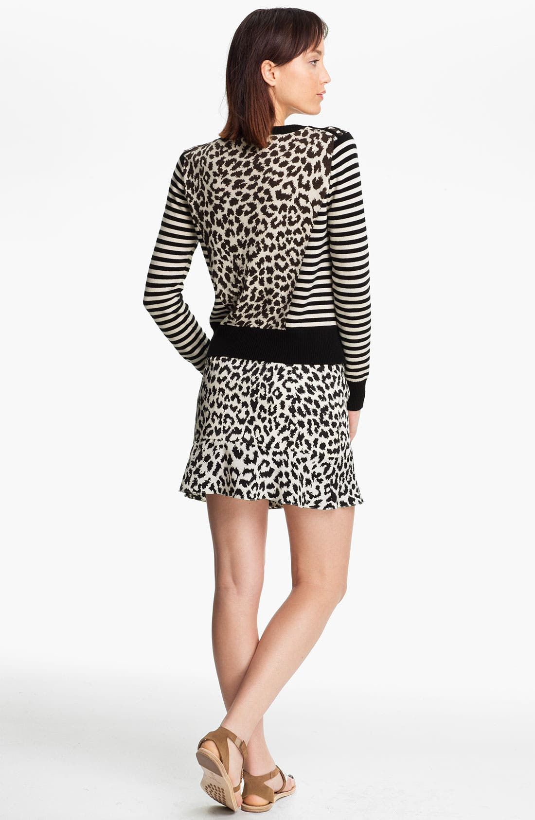 Alternate Image 2  - Thakoon Addition Stripe & Leopard Print Sweater
