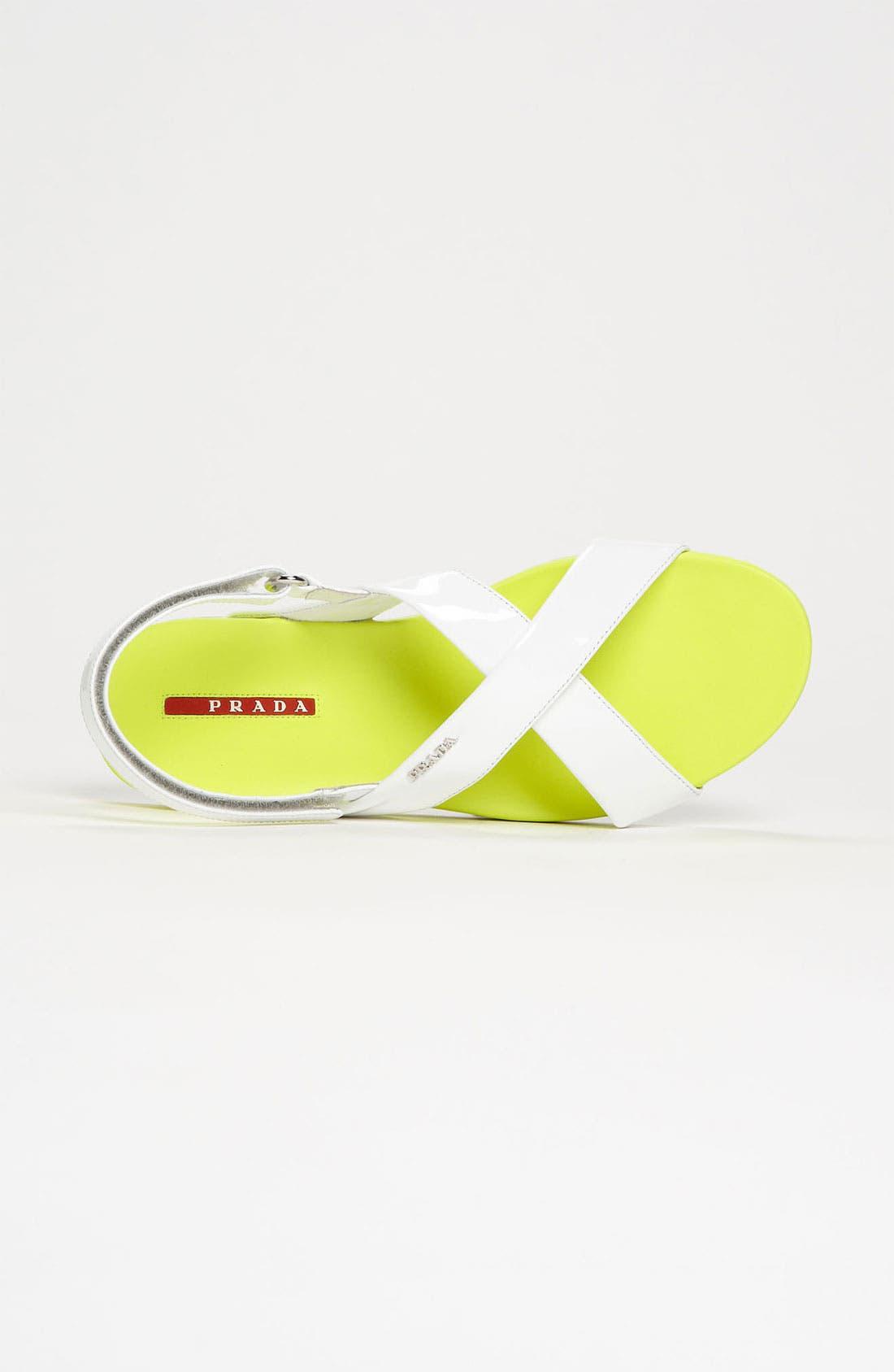 Alternate Image 3  - Prada Crisscross Sandal