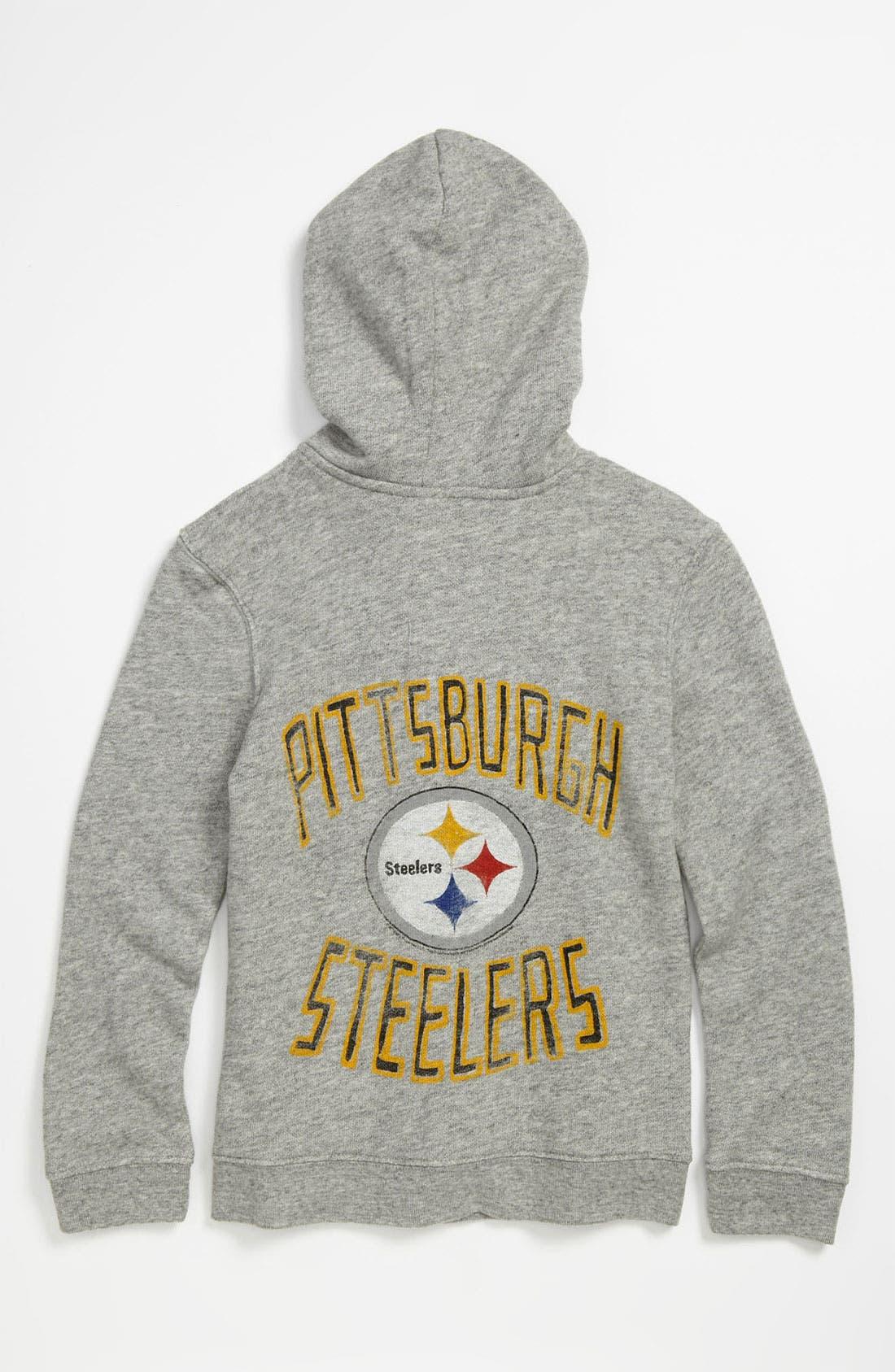 Alternate Image 1 Selected - Junk Food 'Pittsburgh Steelers' Hoodie (Little Boys & Big Boys)