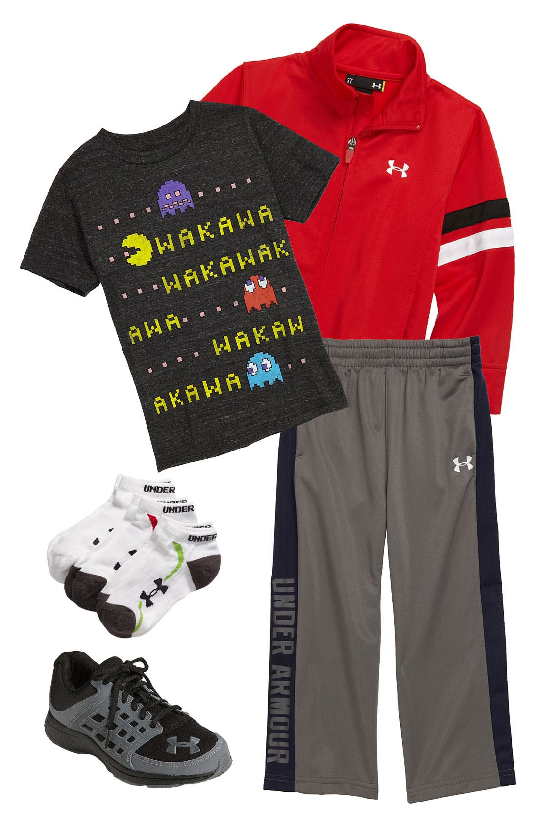 Alternate Image 1 Selected - Made Engine T-Shirt & Under Armour Jacket & Pants (Little Boys)
