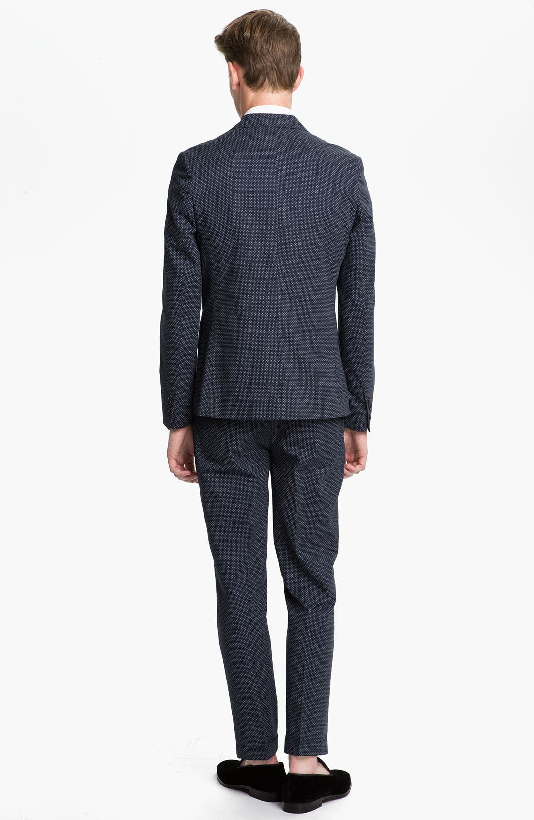 Alternate Image 4  - Topman Pin Dot Skinny Fit Blazer