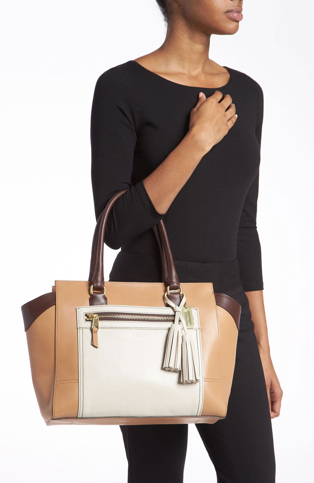 Alternate Image 2  - COACH 'Legacy Colorblock Candace - Medium' Leather Carryall