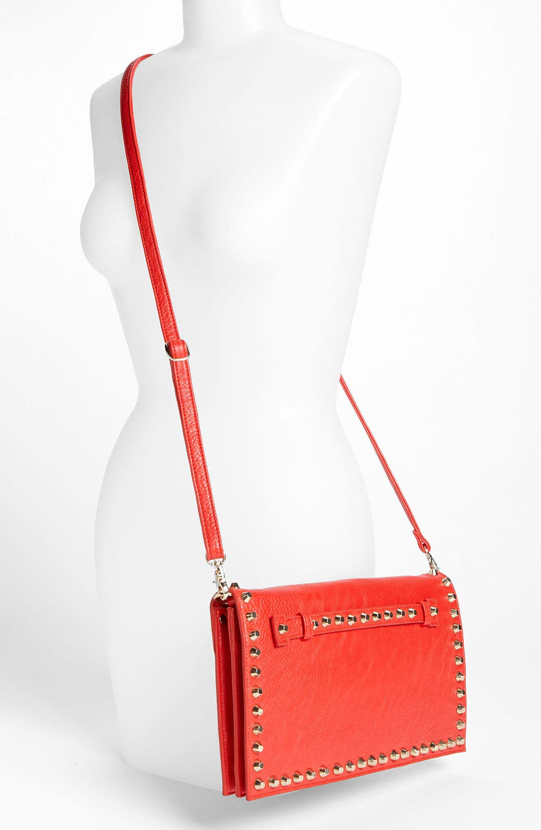 Alternate Image 2  - Street Level Studded Convertible Clutch