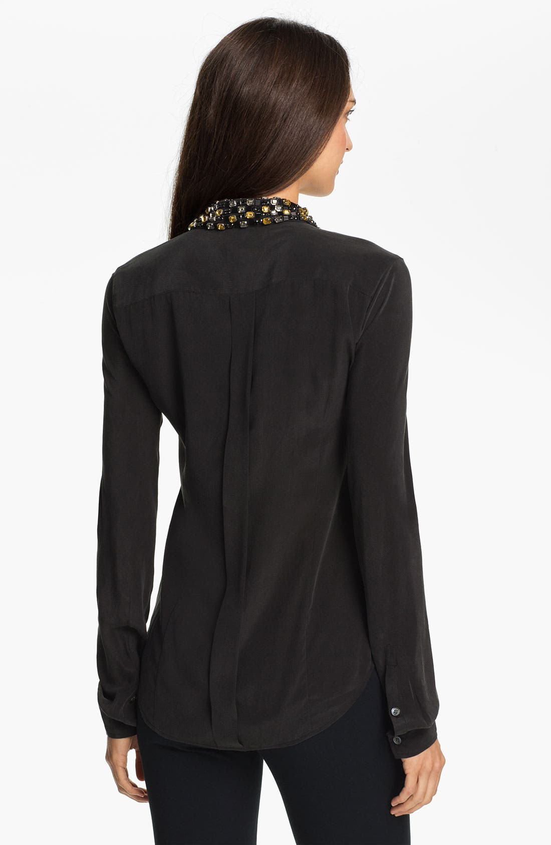 Alternate Image 2  - Equipment 'Lowe' Embellished Silk Shirt
