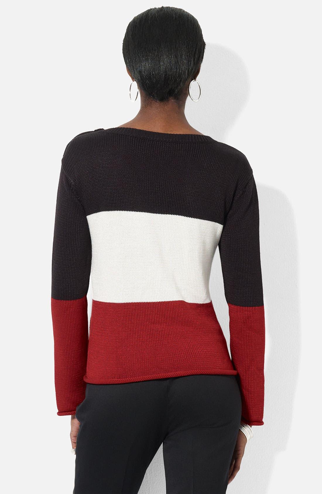 Alternate Image 2  - Lauren Ralph Lauren Button Shoulder Sweater