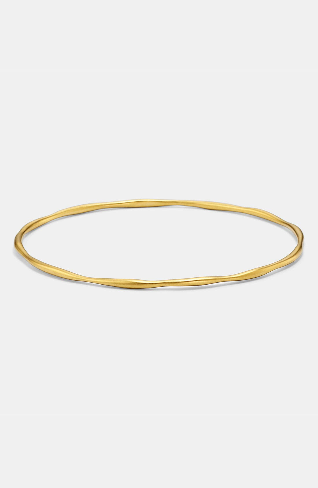 Alternate Image 1 Selected - Ippolita 'Plain' Matte 18k Gold Bangle