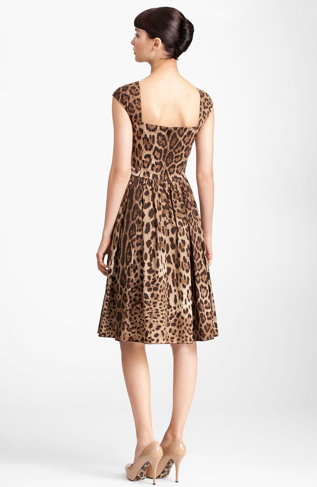 Alternate Image 2  - Dolce&Gabbana Leopard Print Full Skirt Dress
