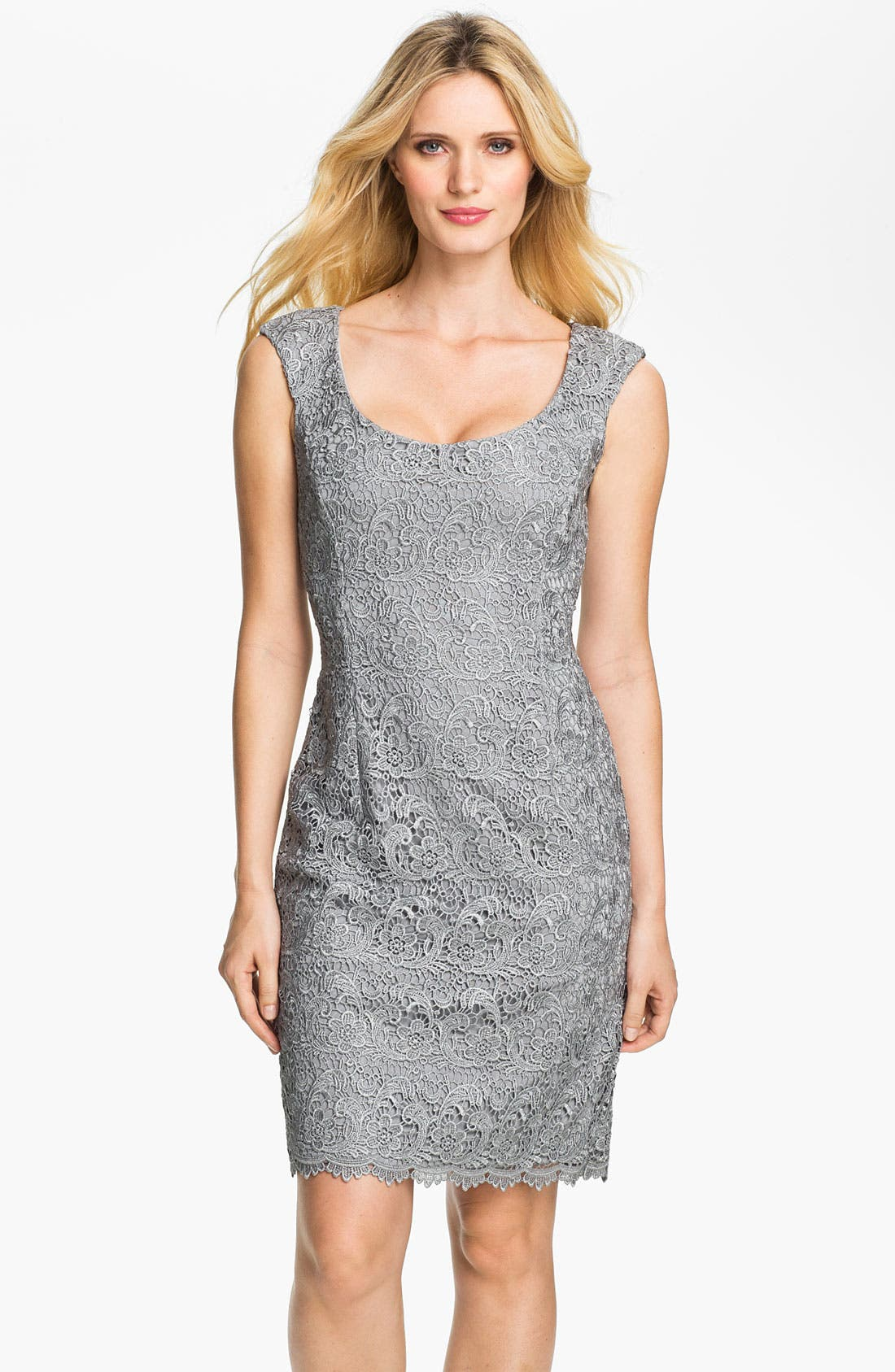 Alternate Image 1 Selected - Maggy London Venice Lace Sheath Dress