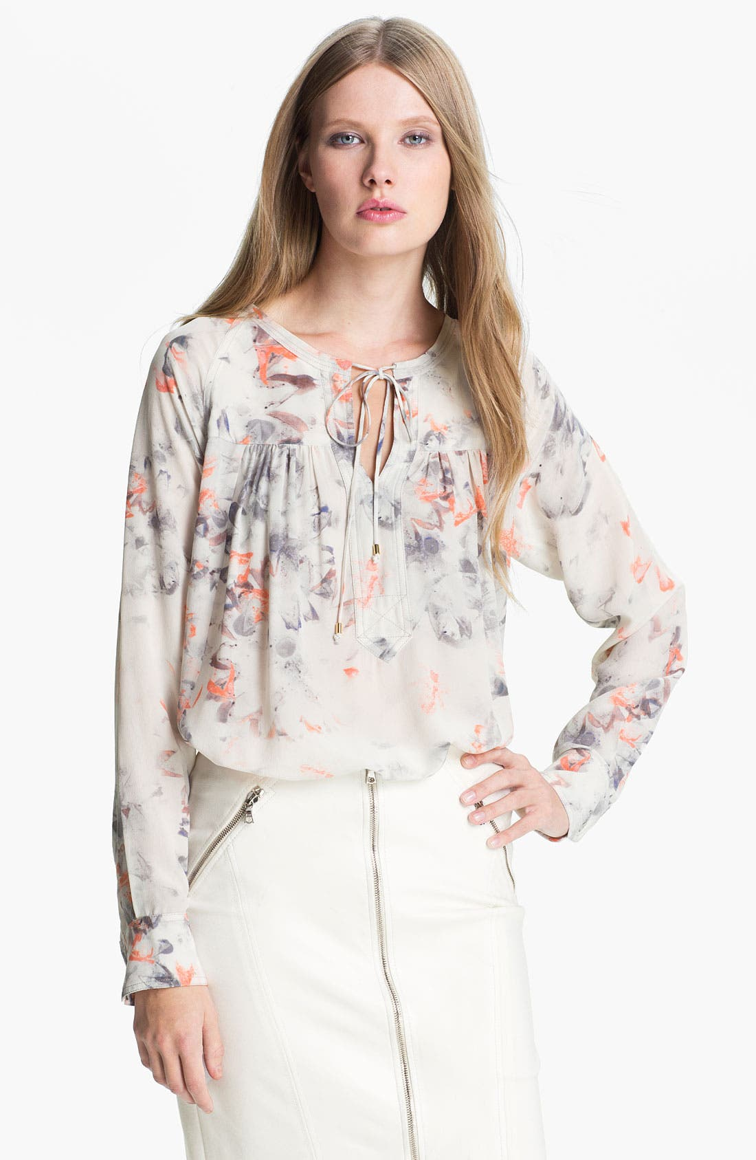 Alternate Image 1 Selected - Rebecca Taylor 'Misty Garden' Silk Blouse
