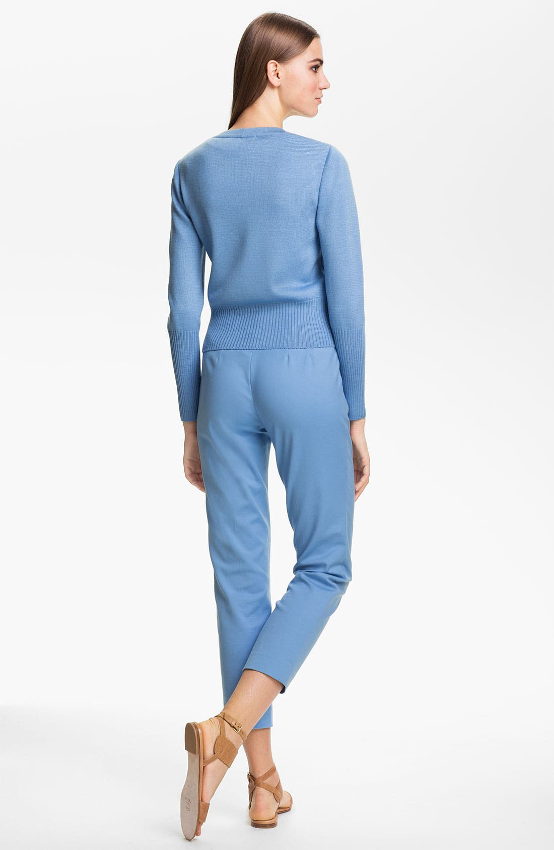 Alternate Image 4  - St. John Collection 'Emma' Double Weave Stretch Cotton Crop Pants