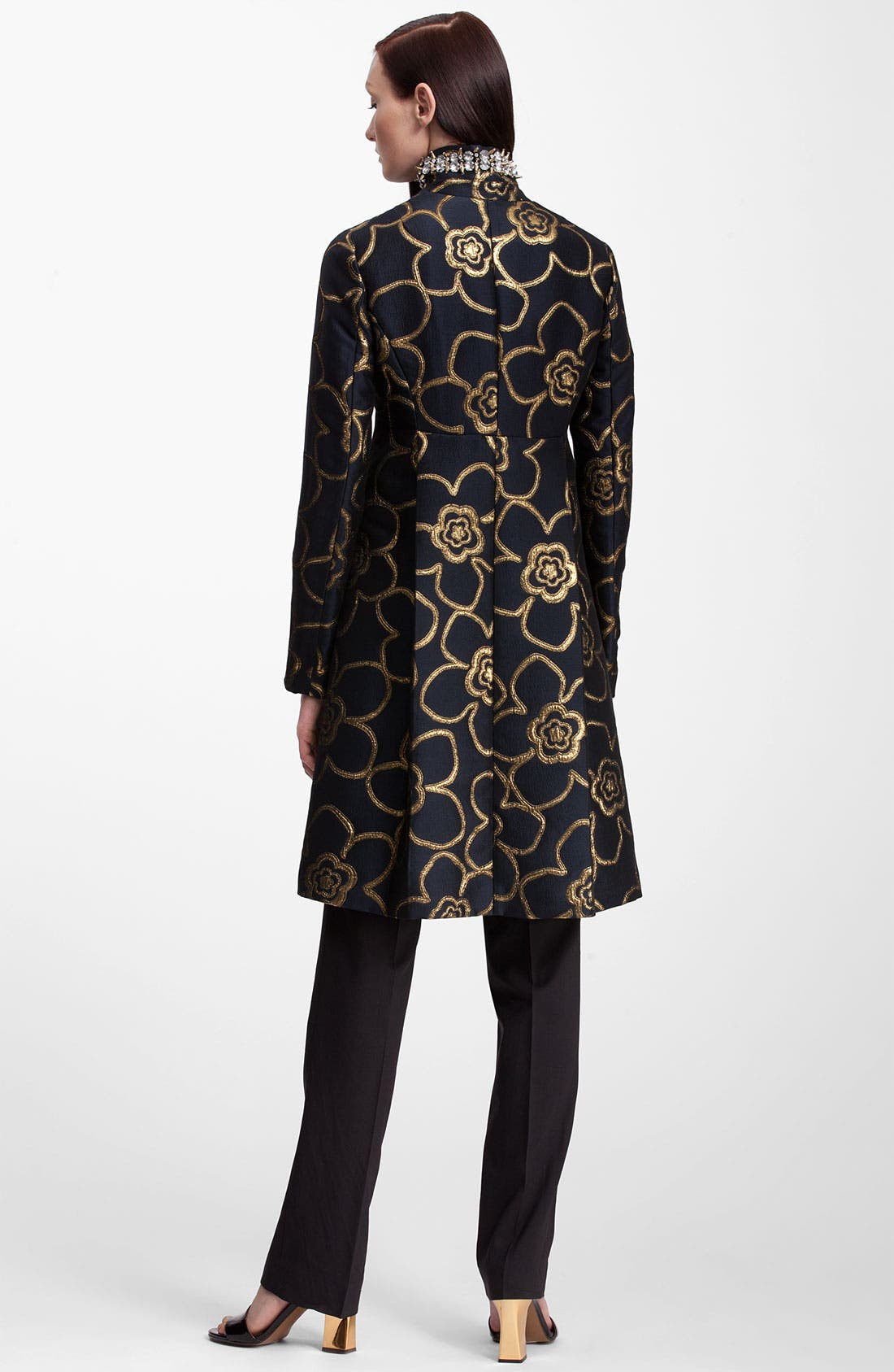Alternate Image 3  - Marni Jewel Collar Metallic Jacquard Coat