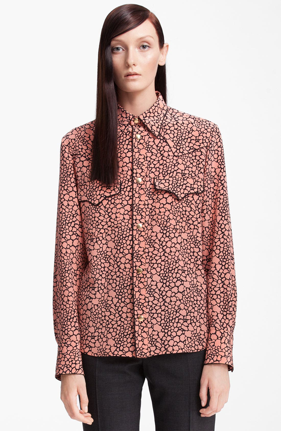 Main Image - Marni Cellular Print Silk Blouse