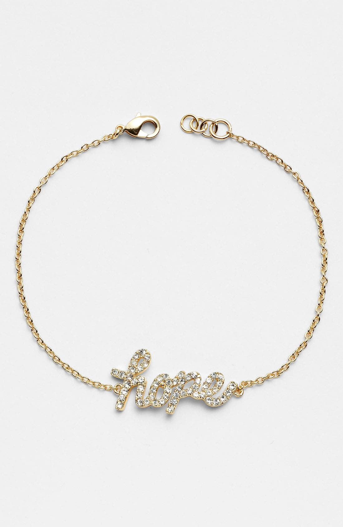 Alternate Image 1 Selected - Ariella Collection 'Messages - Hope' Script Station Bracelet
