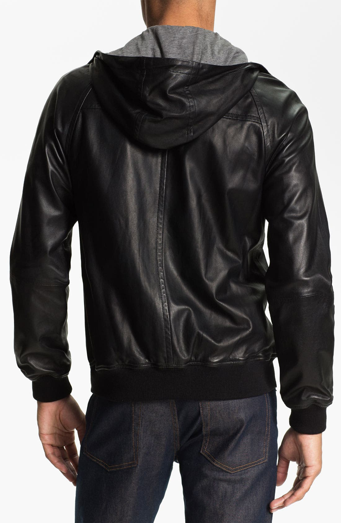 Alternate Image 2  - MARC BY MARC JACOBS Hooded Leather Jacket