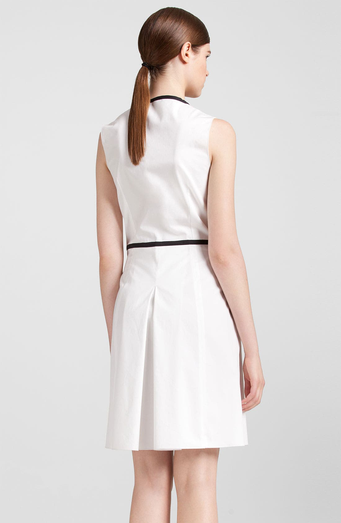 Alternate Image 2  - Jil Sander Navy Black Trim Stretch Cotton Dress