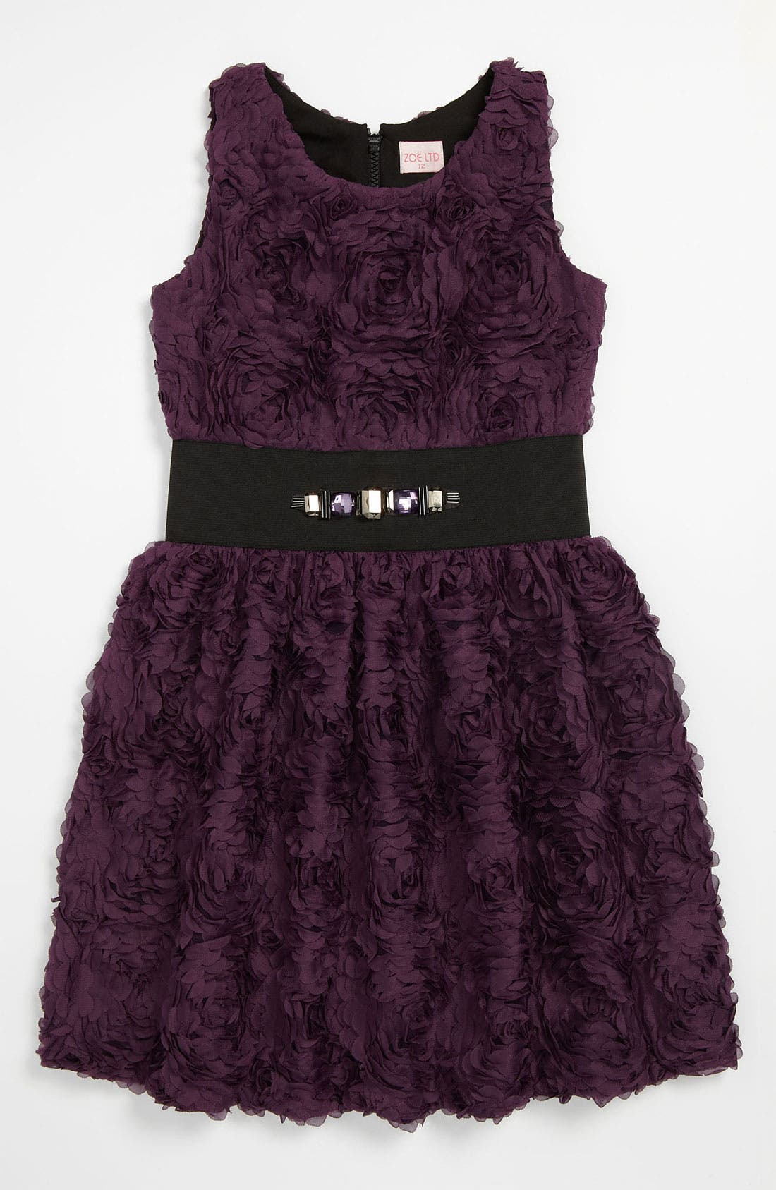 Alternate Image 1 Selected - Zoe Ltd 'Roses' Dress (Big Girls)