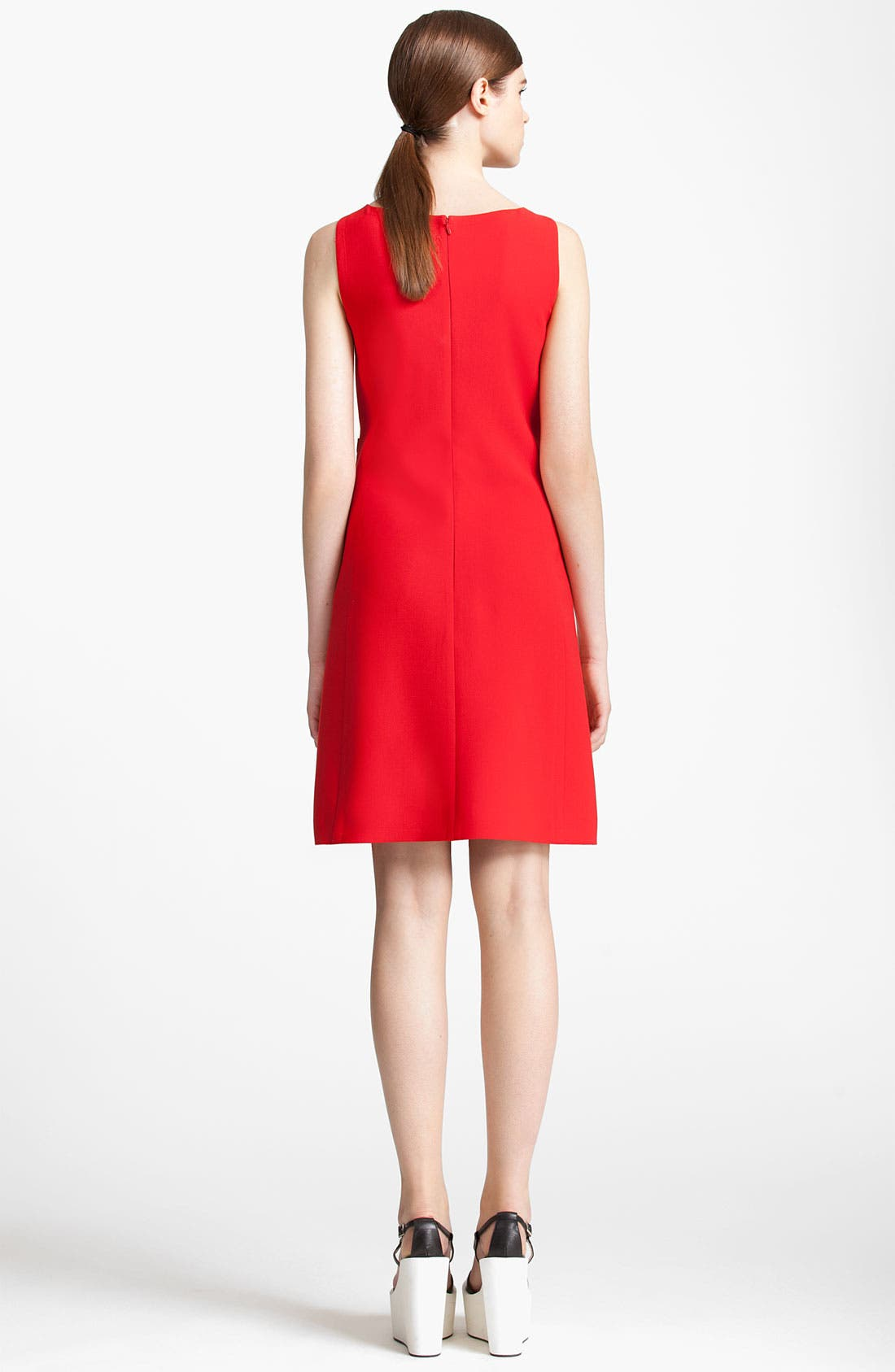 Alternate Image 2  - Jil Sander Navy Wool Crepe Dress