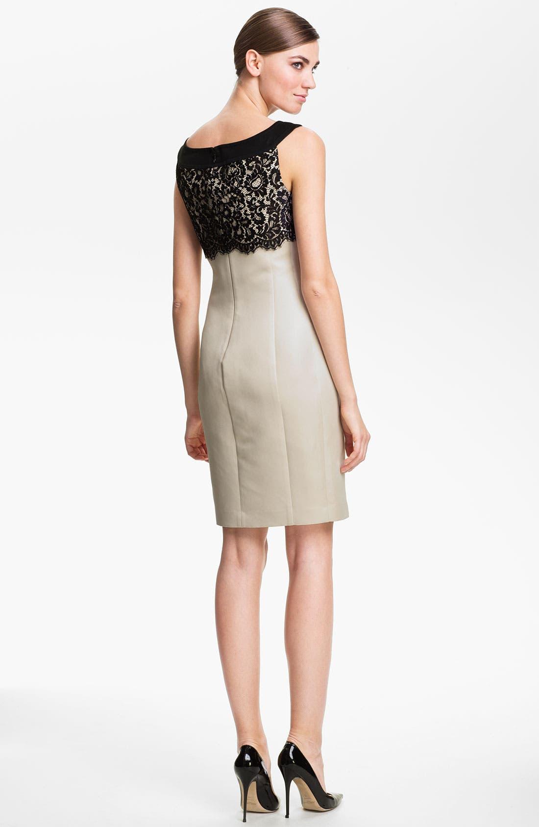 Alternate Image 2  - St. John Collection Lace & Sequin Sheath Dress