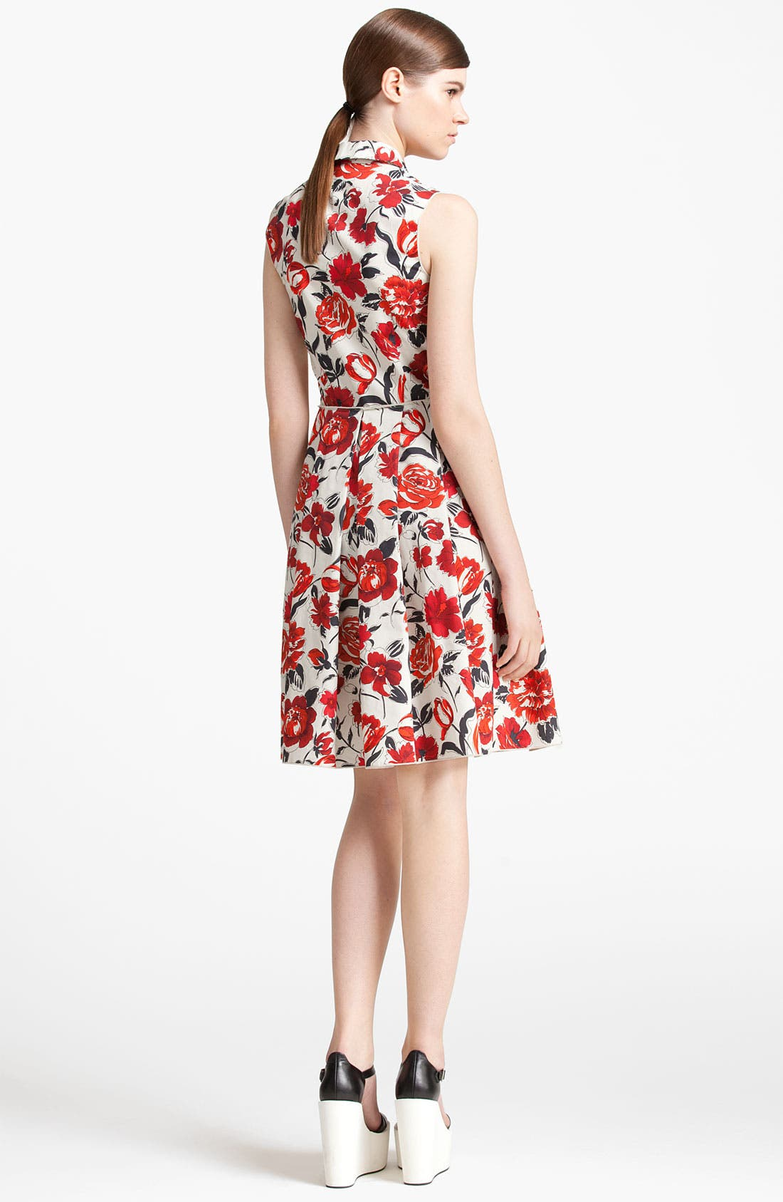 Alternate Image 2  - Jil Sander Navy Garden Print Shirtdress