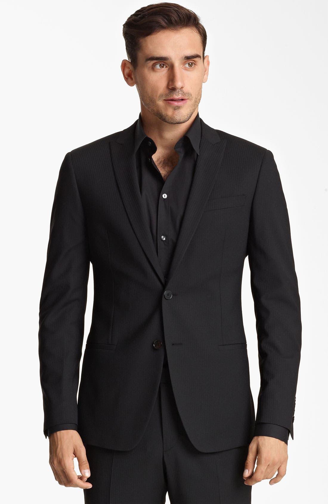 Main Image - Dolce&Gabbana Tonal Stripe Suit