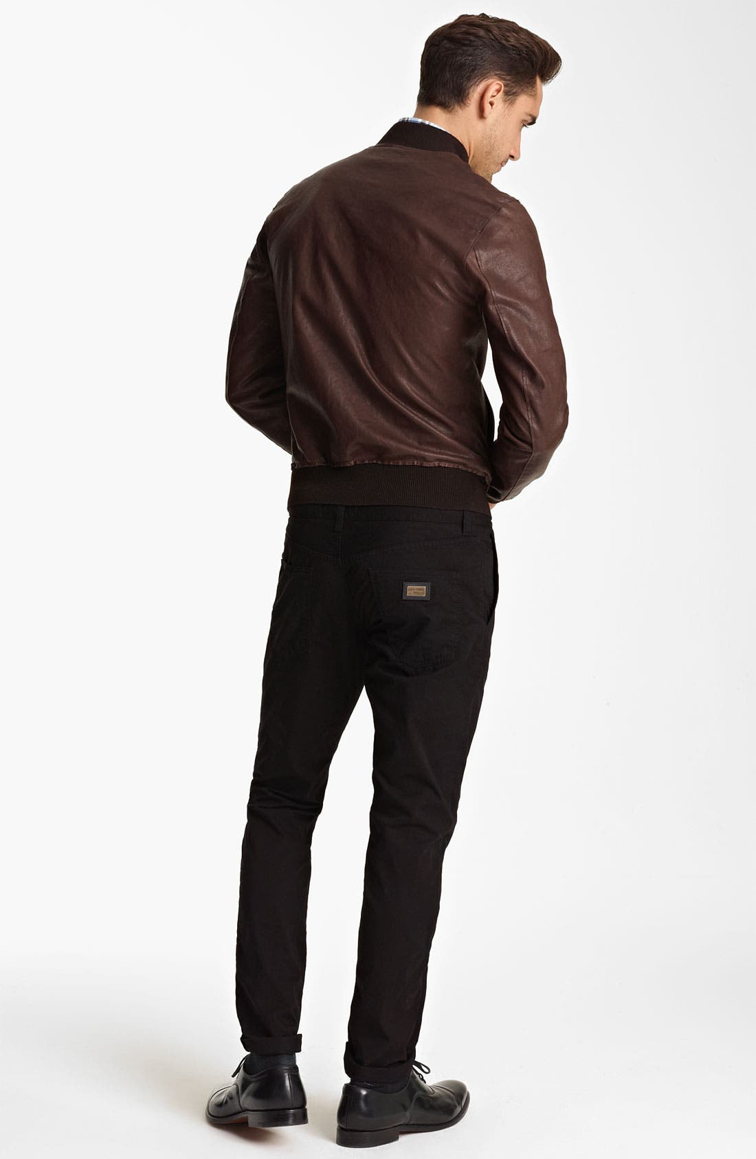 Alternate Image 5  - Dolce&Gabbana Leather Bomber Jacket